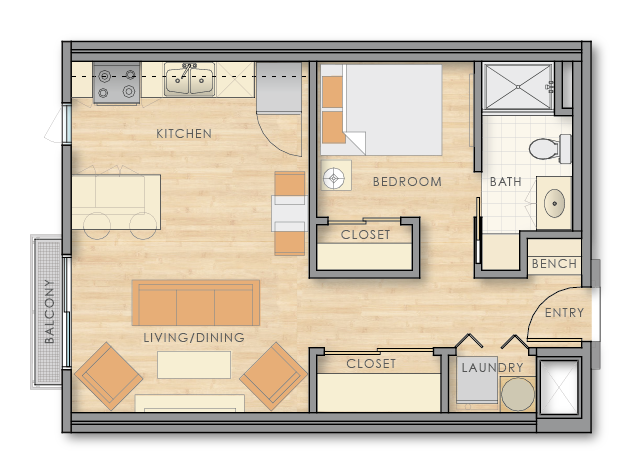 country club lofts floor plan